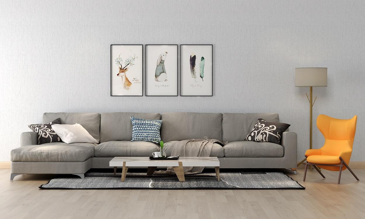 浅灰素色无缝环保墙布