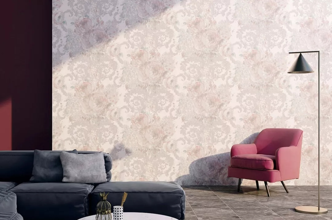 欧式花纹无缝墙布
