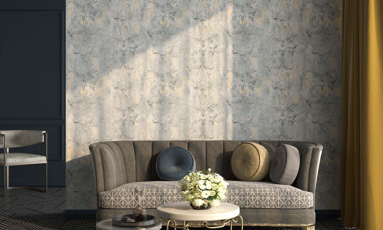 欧式花纹提花环保墙布