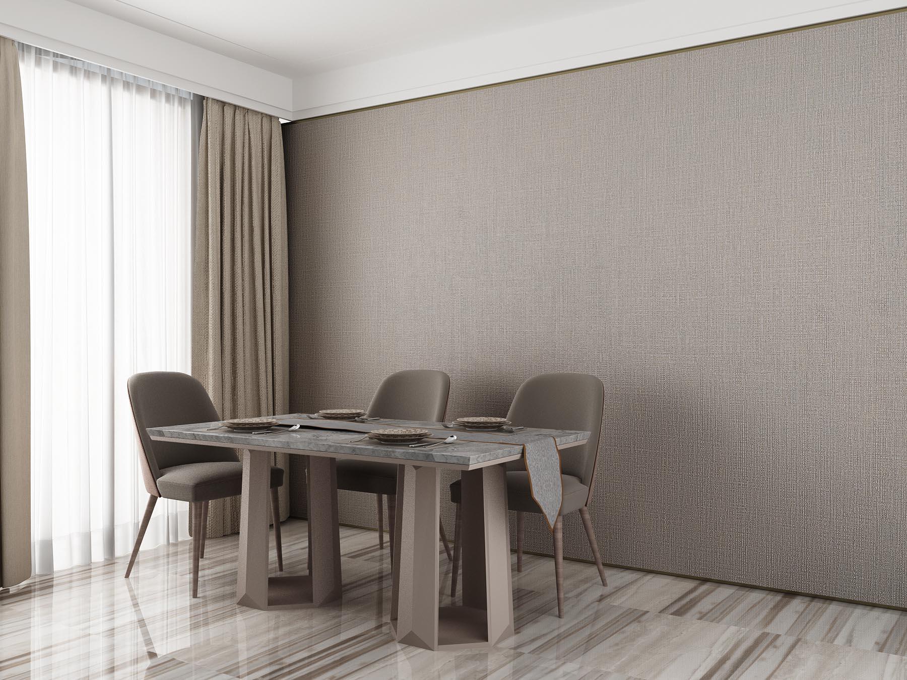 灰咖纯色现代简约无缝墙布