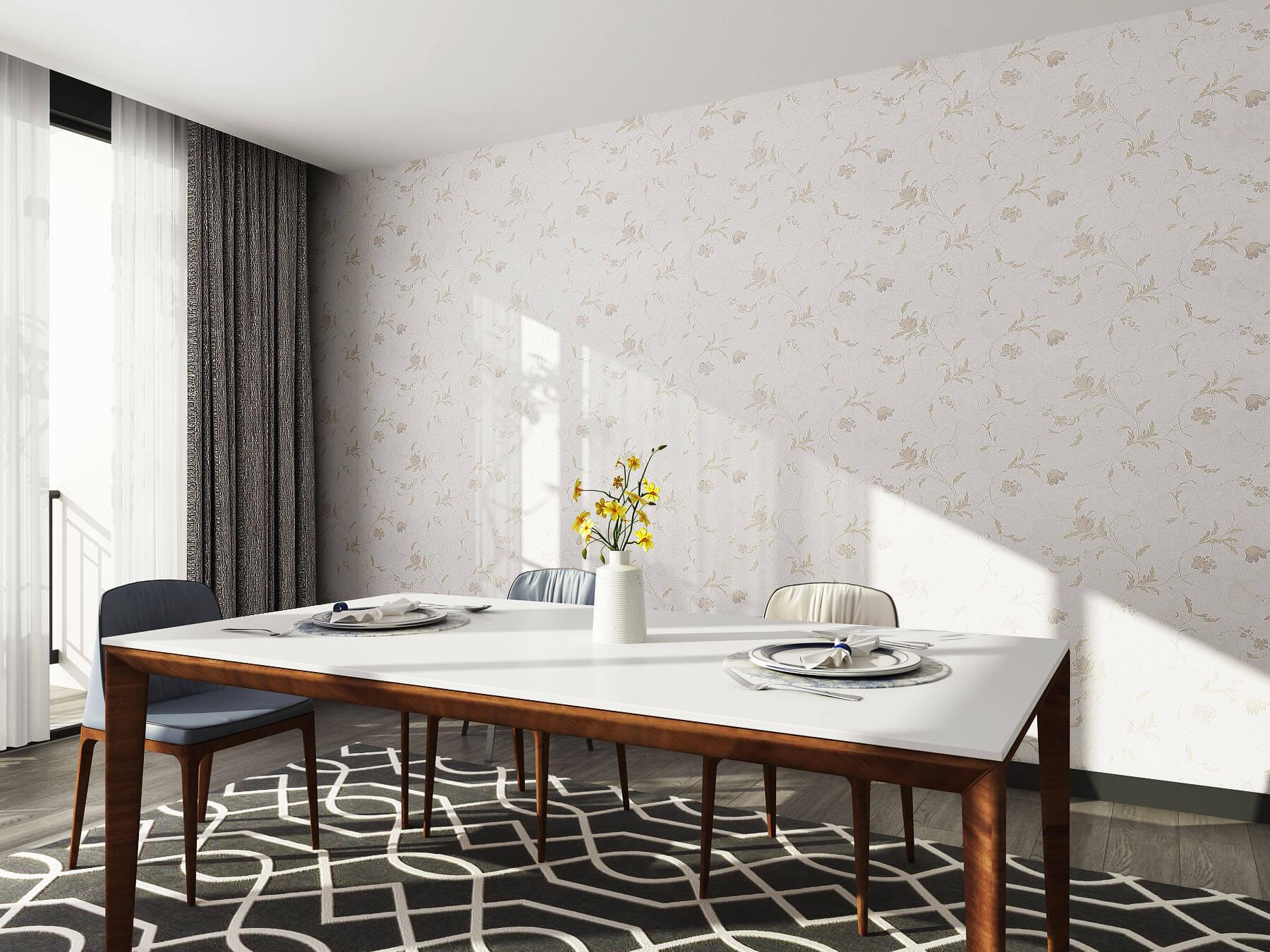 玫瑰花纹美式提花客厅墙布