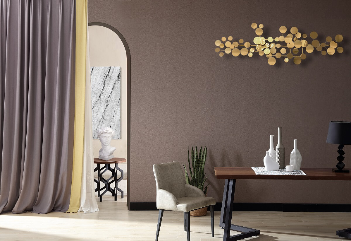 纯咖素色简约无缝墙布
