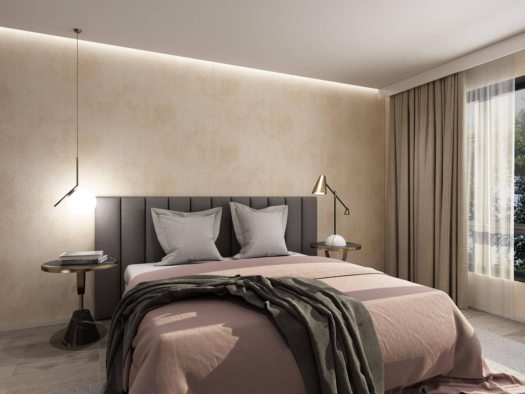 大马士革纹路欧式卧室墙布