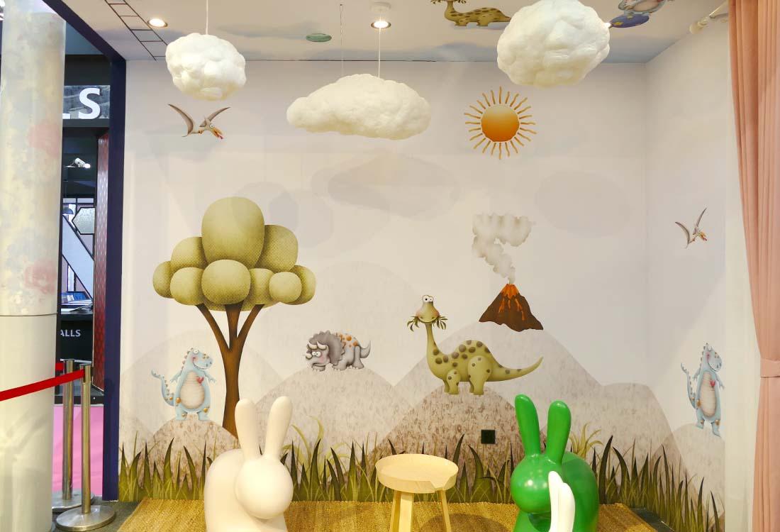 JCC天洋墙布展会童趣展示区