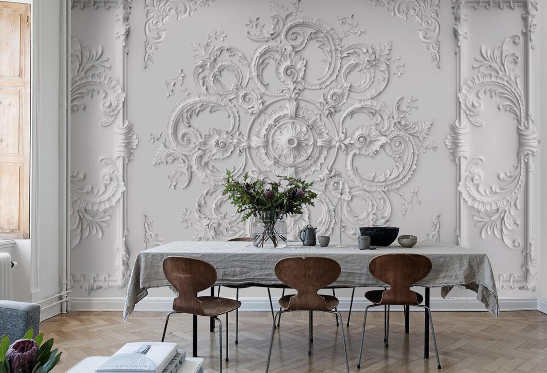 古典欧式巴洛克浮雕背景墙