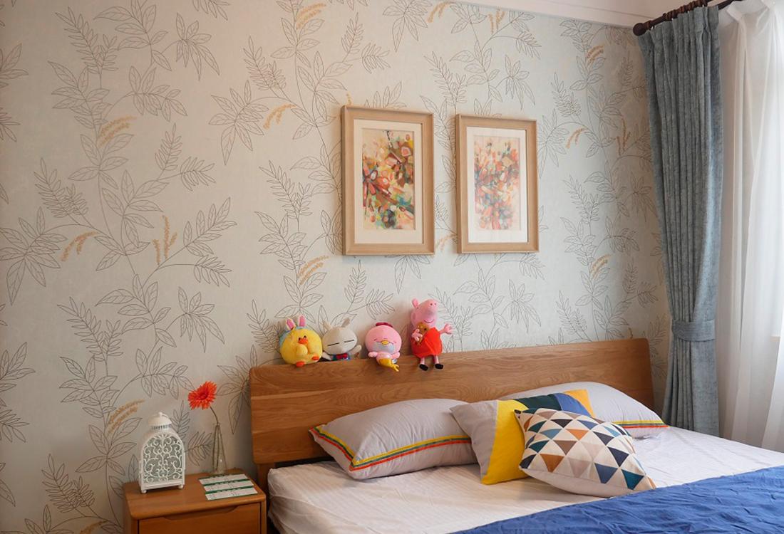 刺绣植物花纹无缝墙布