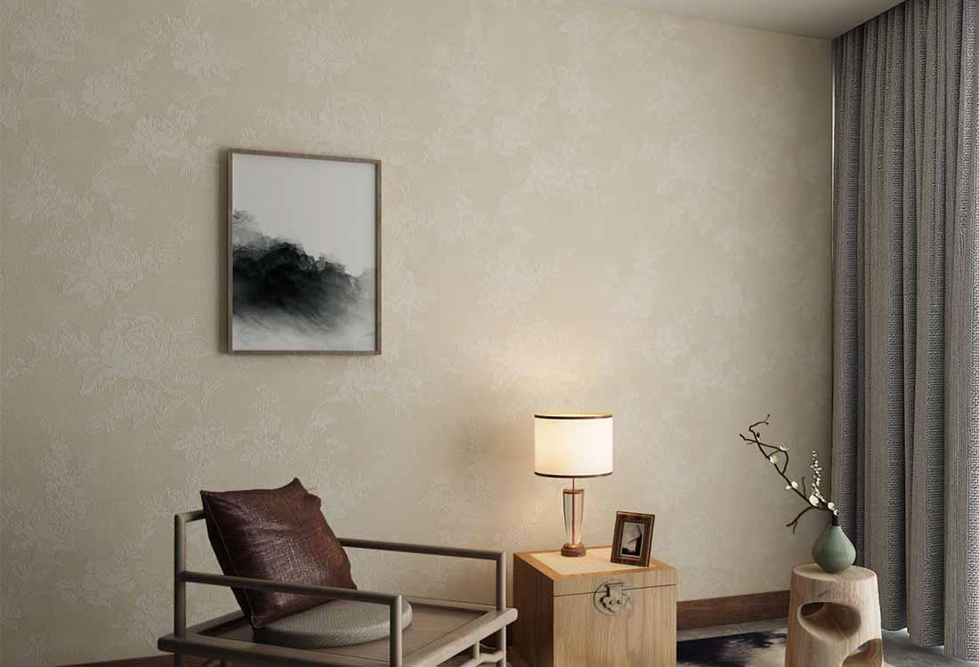 棠棣连枝花开新中式墙布