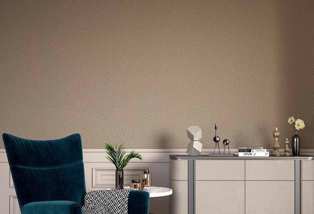 咖色素色无缝墙布