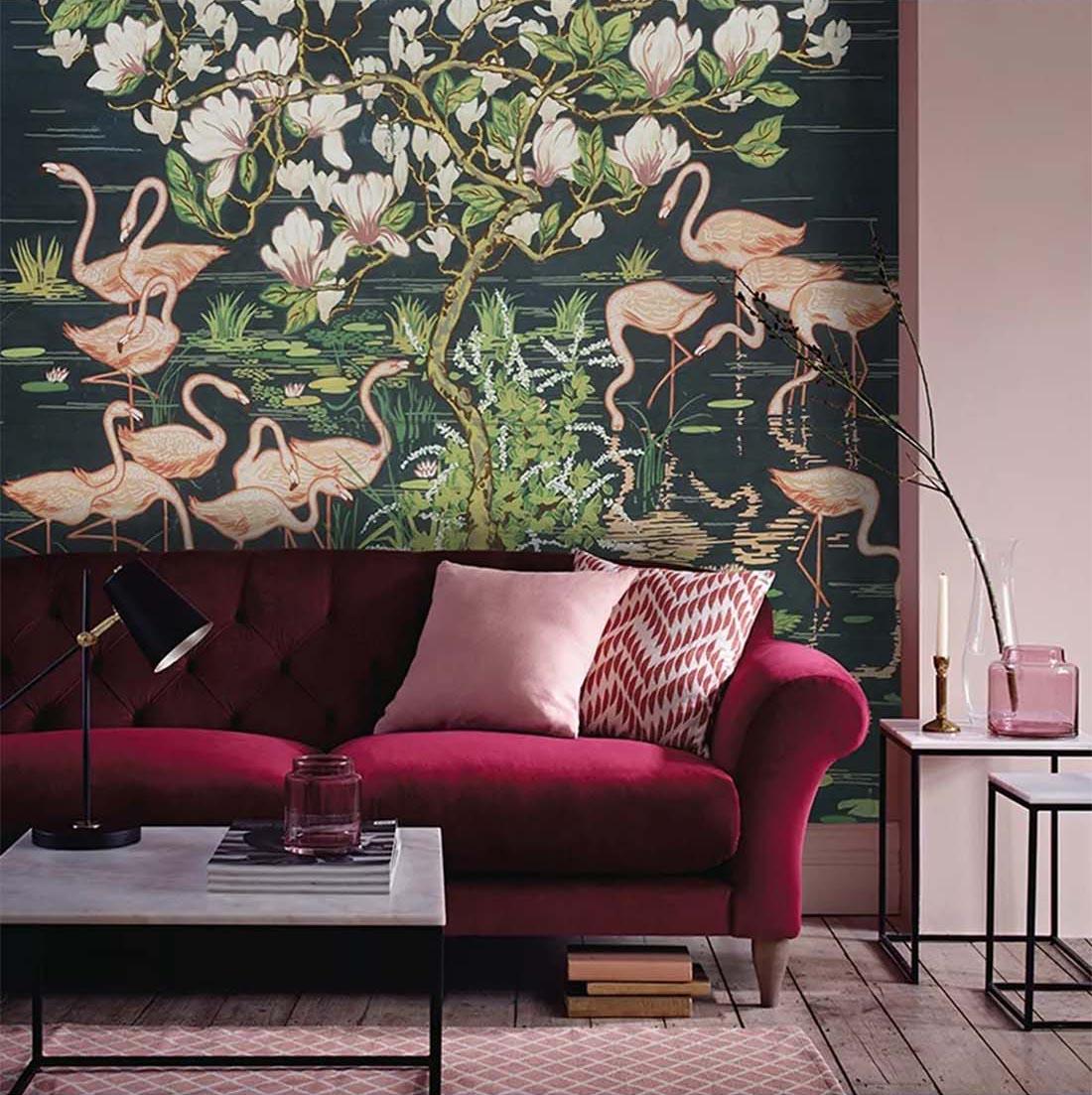 火烈鸟元素壁画