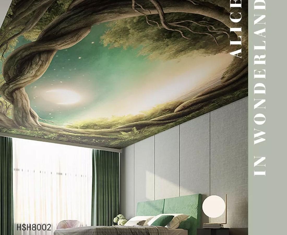 树洞月光童话故事天顶壁画