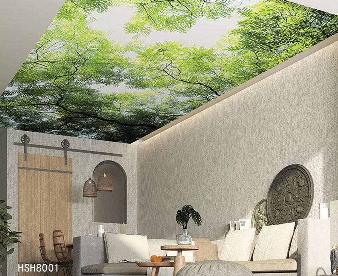 盛夏树林墙顶壁画