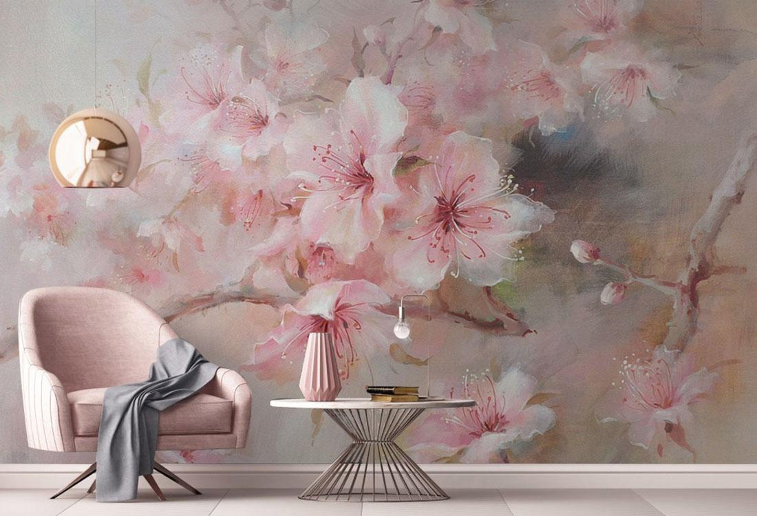 桃花朵朵暗香涌动壁画