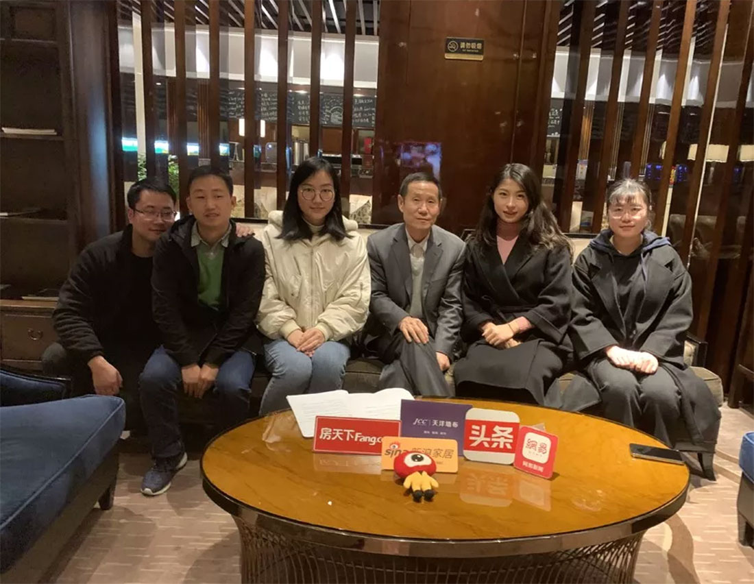 JCC天洋墙布董事长李哲龙与媒体见面会