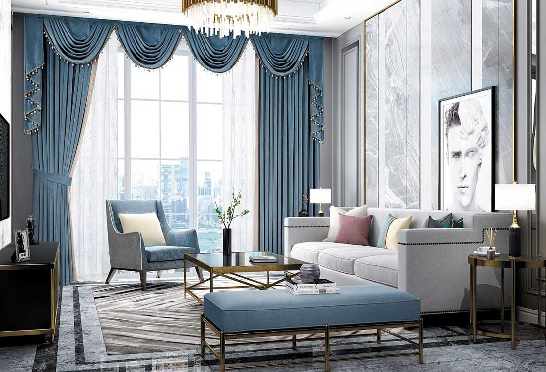 明亮色窗帘搭配提升生活品质