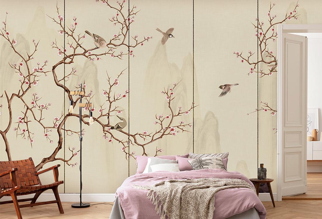 JCC天洋花鸟中式背景墙