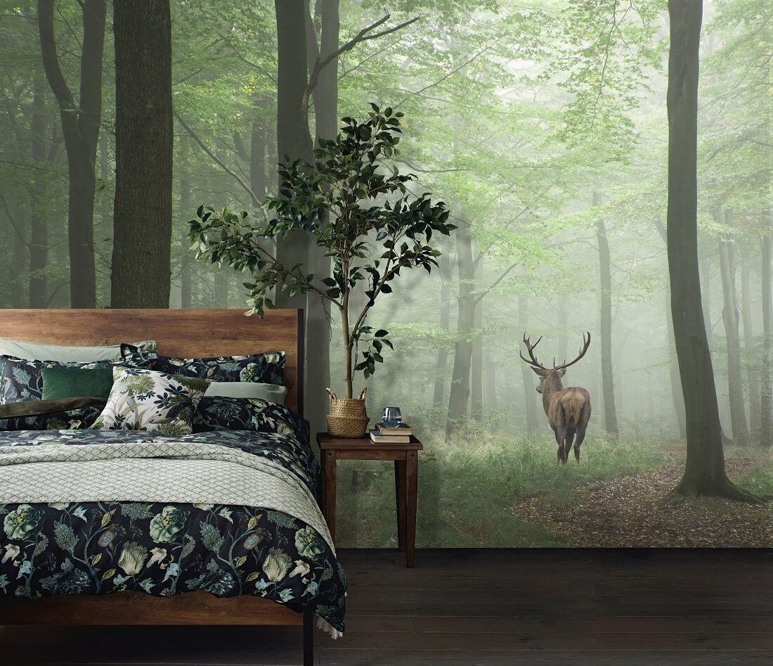 热带雨林绿植阔叶沙发背景墙
