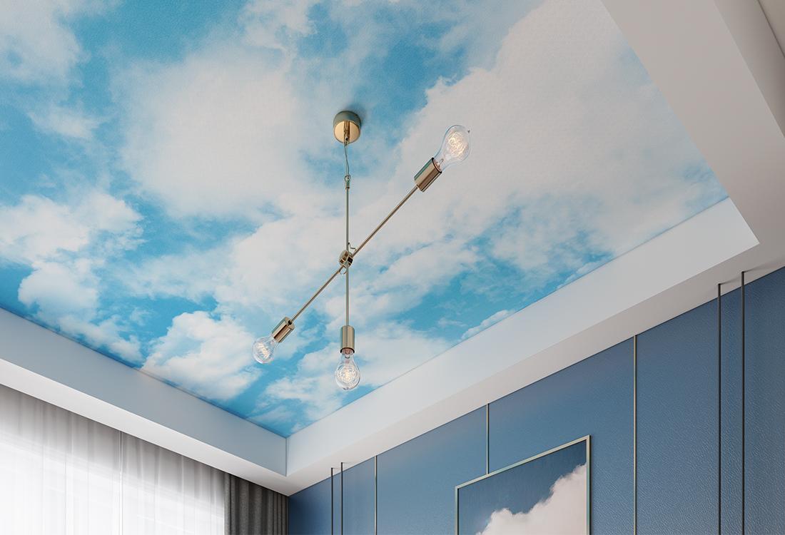 JCC天洋天顶壁画蓝天白云