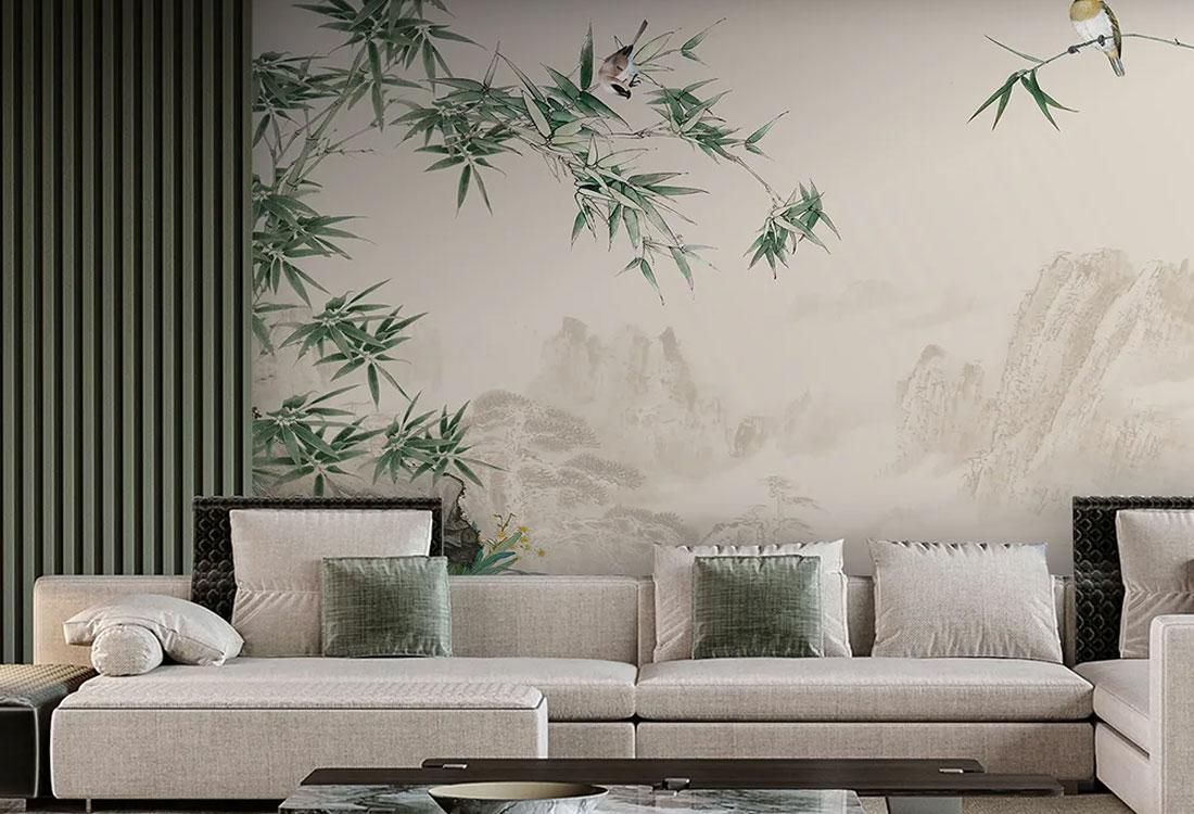 JCC天洋壁画中式背景墙