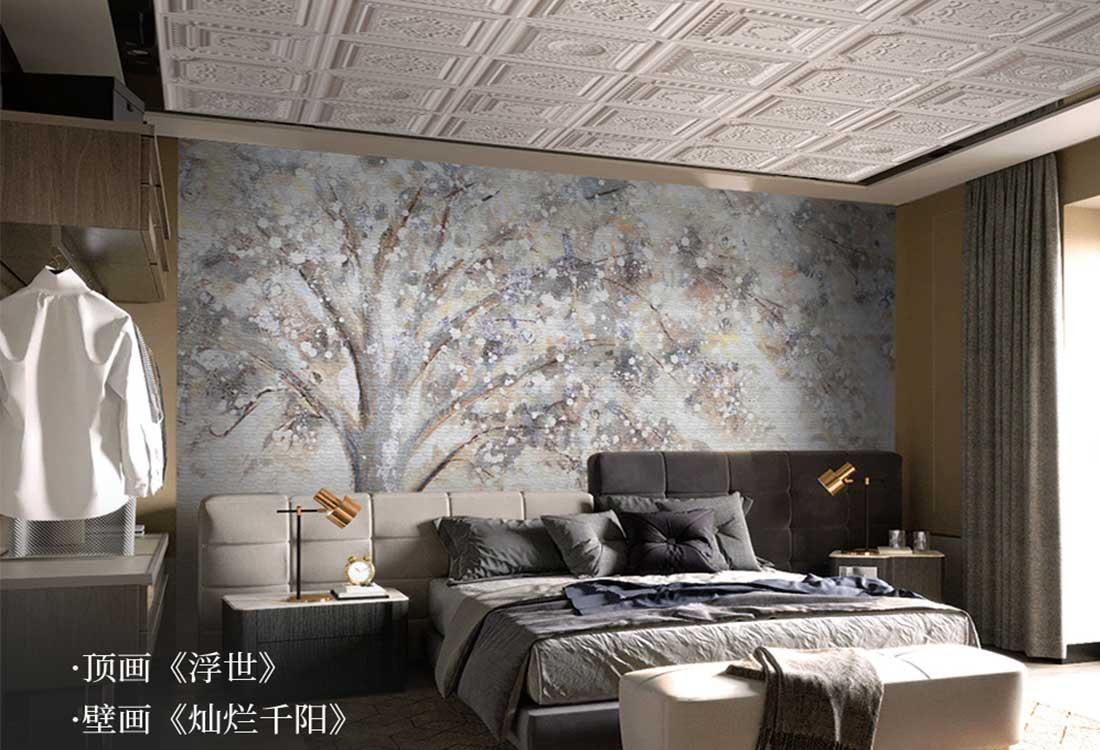 JCC天洋天顶壁画背景壁画软装