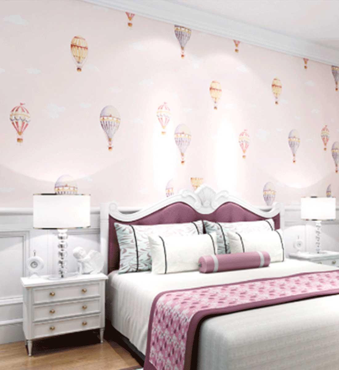 JCC天洋热气球定制儿童房墙布
