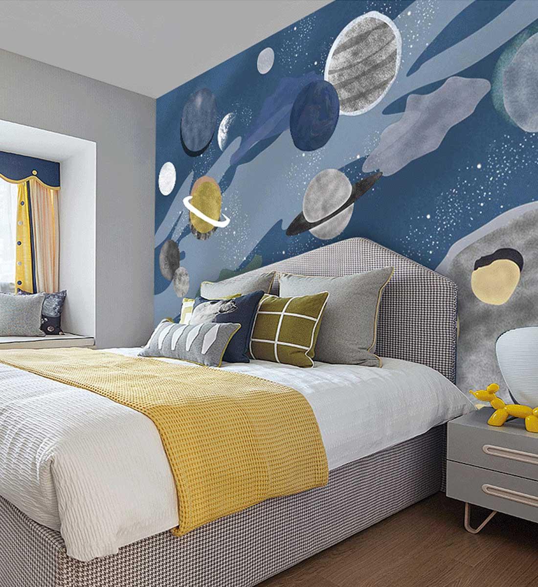 JCC天洋群星宇宙儿童房定制墙布