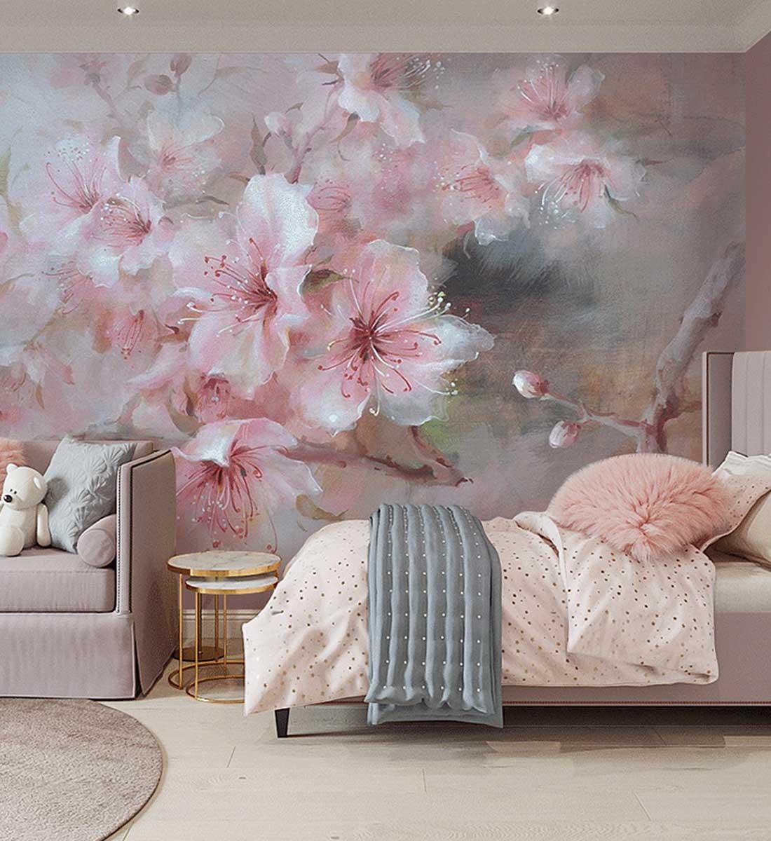 JCC天洋玫瑰花绽放定制壁画