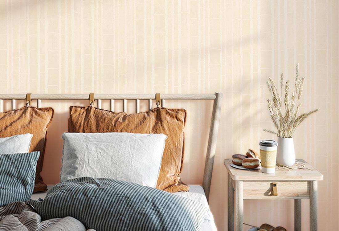 竹纹新中式墙布