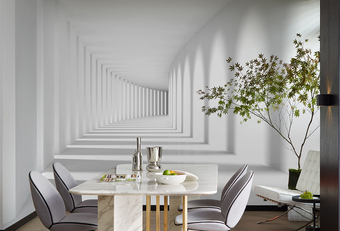 JCC天洋壁画现代风格时长长廊