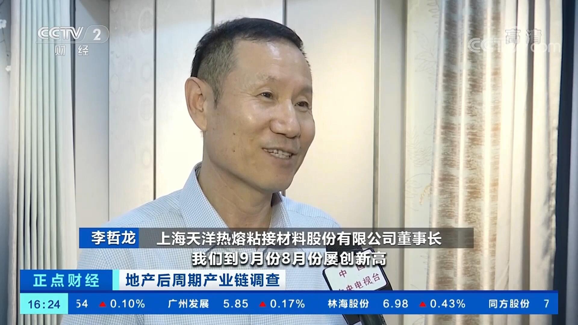 上海天洋墙布董事长李哲龙先生接受央视采访