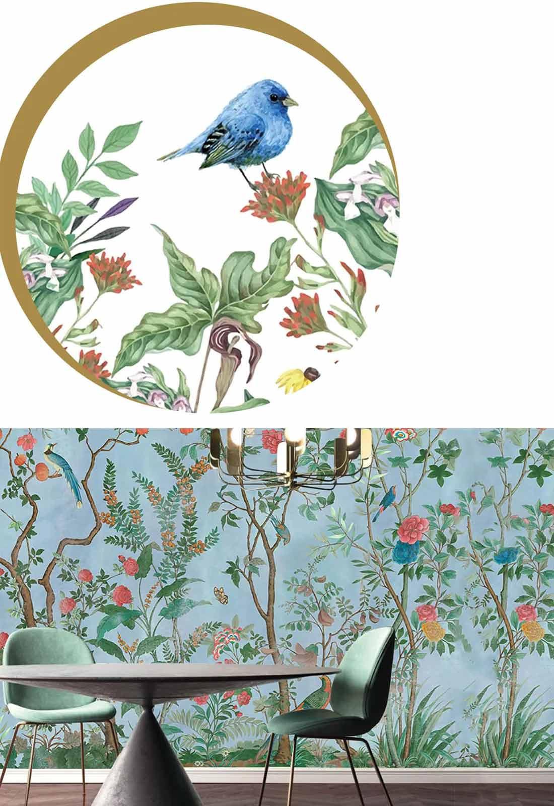 天洋壁画丛林系列琅彩百趣园效果图