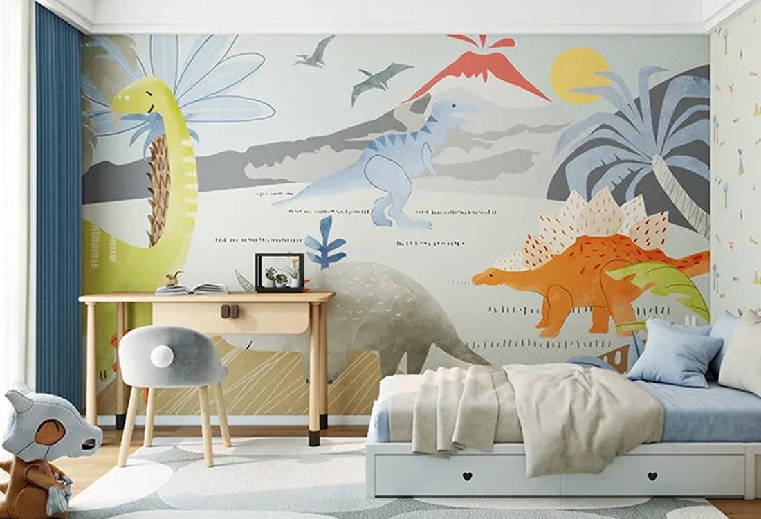 JCC天洋儿童壁画侏罗纪公园
