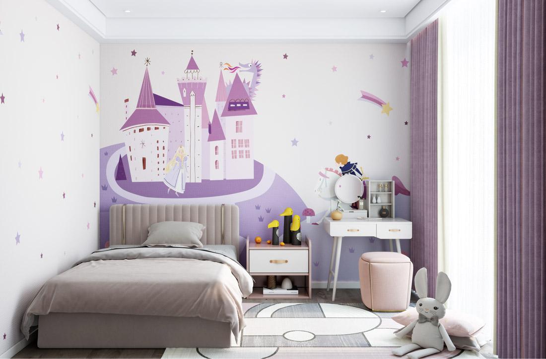 JCC天洋墙布王子与公主环保定制墙布
