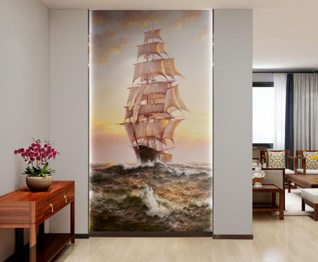 JCC天洋玄关壁画一帆风顺