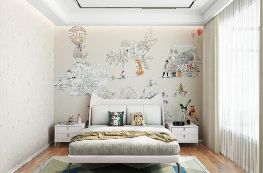 JCC天洋墙布儿童房壁画