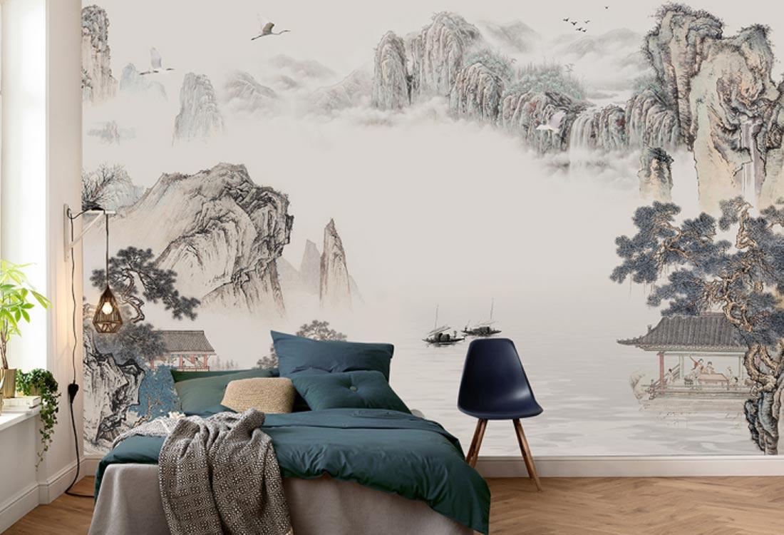 天洋壁画山水壁画
