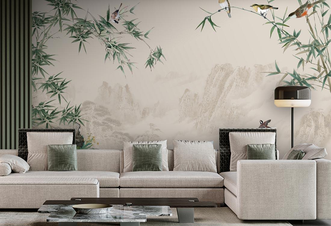 天洋壁画竹子定制壁画